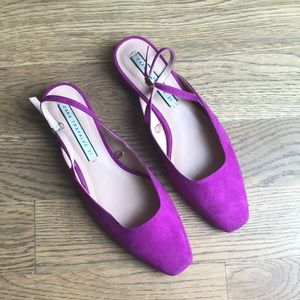 Pink fuchsia shoes velvet 37